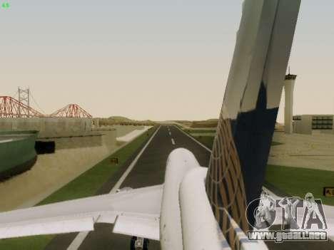 McDonell Douglas DC-10-30 Continental para la vista superior GTA San Andreas