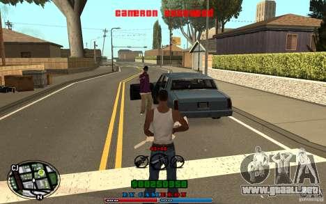 Cleo HUD by Cameron Rosewood V1.0 para GTA San Andreas quinta pantalla