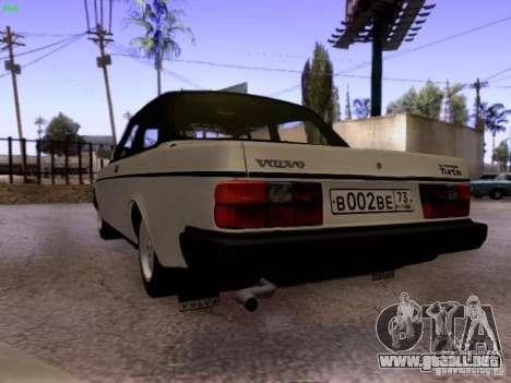 Volvo 242 Turbo para GTA San Andreas vista posterior izquierda
