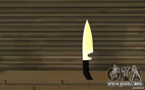 Nuevo cuchillo para GTA San Andreas
