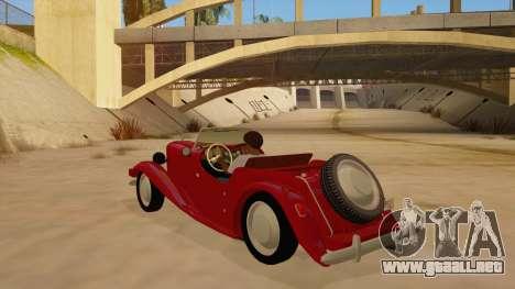 MG Augest para GTA San Andreas vista posterior izquierda
