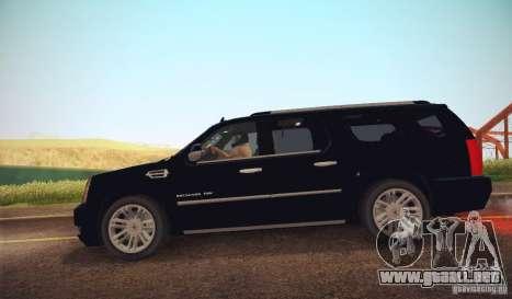 Cadillac Escalade ESV 2012 para GTA San Andreas left