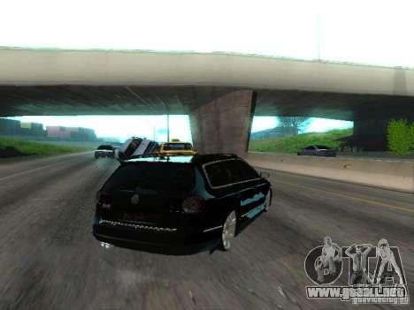 Volkswagen Passat B6 Variant Com Bentley 20 Fixa para GTA San Andreas vista posterior izquierda