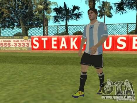 Lionel Messi para GTA San Andreas segunda pantalla