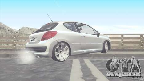 Peugeot 207 RC para GTA San Andreas left