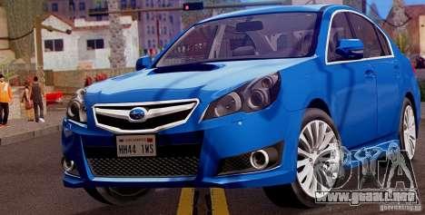 Subaru Legacy B4 2010 para GTA San Andreas left