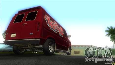Ford E-150 Gang Burrito para GTA Vice City visión correcta
