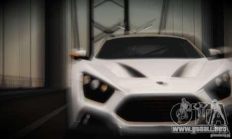 Zenvo ST1 2010 para visión interna GTA San Andreas