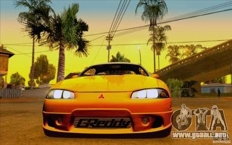 Mitsubishi Eclipse GSX Mk.II 1999 para GTA San Andreas vista posterior izquierda