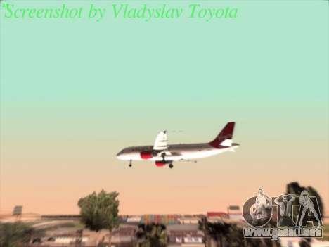Airbus A320-211 Virgin Atlantic para visión interna GTA San Andreas