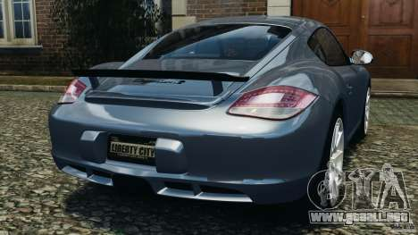 Porsche Cayman R 2012 para GTA 4 Vista posterior izquierda