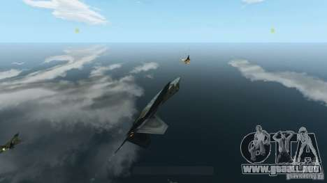 Air Combat IV para GTA 4 quinta pantalla