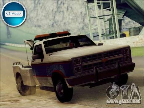 New Towtruck para GTA San Andreas vista posterior izquierda