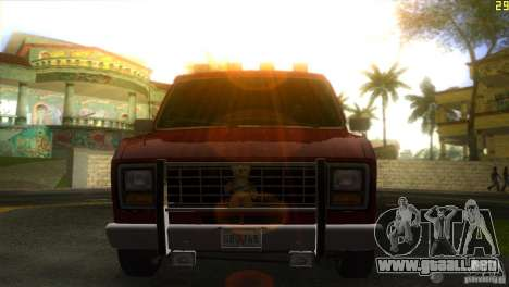 Ford E-150 Gang Burrito para GTA Vice City vista lateral izquierdo