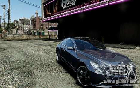 Mercedes Benz E500 Coupe para GTA 4 vista hacia atrás