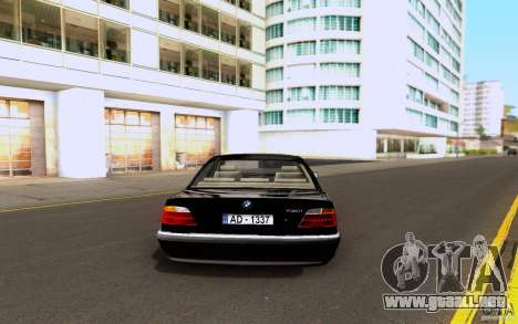 BMW 730i E38 FBI para la visión correcta GTA San Andreas