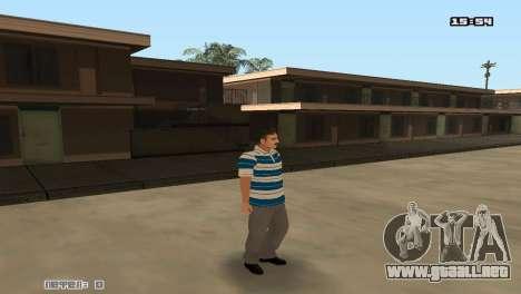 Construir las pieles Rifa para GTA San Andreas sucesivamente de pantalla