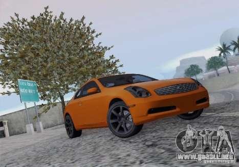 Infiniti G35 para visión interna GTA San Andreas