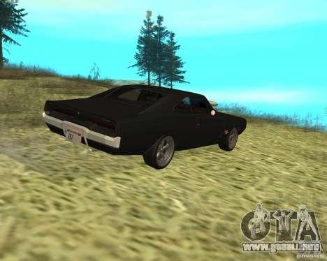Dodge Charger R/T 1970 para GTA San Andreas vista hacia atrás