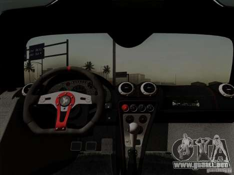 Gumpert Apollo 2005 para visión interna GTA San Andreas