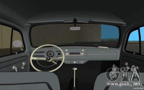 Volkswagen Beetle 1963 para GTA Vice City vista desde abajo