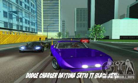 Dodge Charger Daytona SRT10 para GTA San Andreas vista posterior izquierda