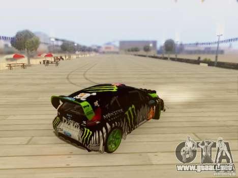 Ford Fiesta Gymkhana 3 para GTA San Andreas vista posterior izquierda