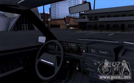 VAZ 21099 estilo Vip para GTA San Andreas vista posterior izquierda