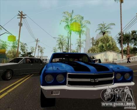 Chevrolet Chevelle SS para la visión correcta GTA San Andreas