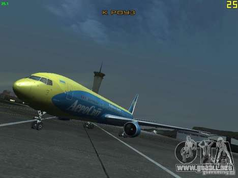 Boeing 767-300 AeroSvit Ukrainian Airlines para GTA San Andreas
