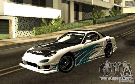Mazda RX-7 C-West para visión interna GTA San Andreas