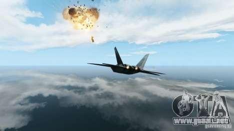 Air Combat IV para GTA 4 adelante de pantalla