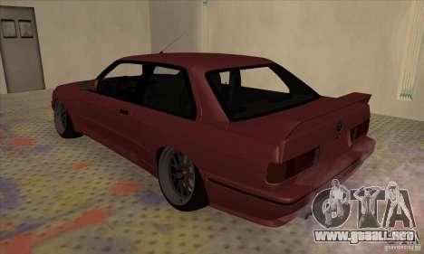 BMW M3 E30 1990 para GTA San Andreas left