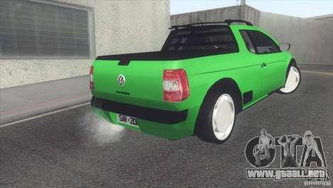 Volkswagen Saveiro 2013 para la visión correcta GTA San Andreas