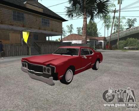 Sabre HD para GTA San Andreas vista hacia atrás