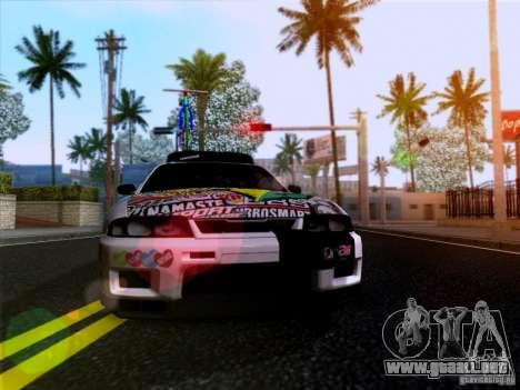 Nissan GT-R R33 HellaFlush para GTA San Andreas vista hacia atrás