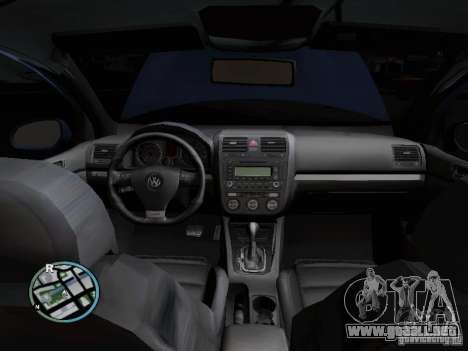 Volkswagen Golf V R32 Black edition para vista lateral GTA San Andreas