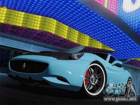 Ferrari California para las ruedas de GTA San Andreas