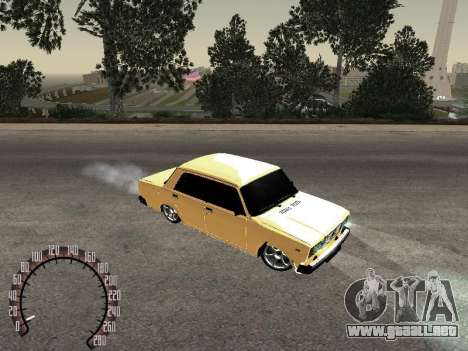 VAZ 2107 oro para GTA San Andreas left