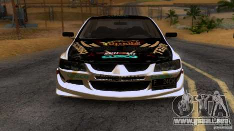 Mitsubishi Lancer Evolution 8 para visión interna GTA San Andreas
