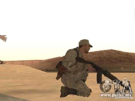 Piel de un soldado soviético para GTA San Andreas sucesivamente de pantalla