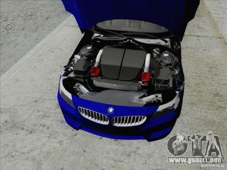 BMW Z4 2011 para GTA San Andreas vista hacia atrás