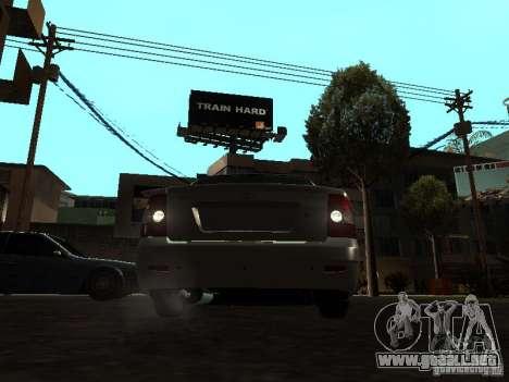 Lada 2170 Priora para GTA San Andreas vista hacia atrás