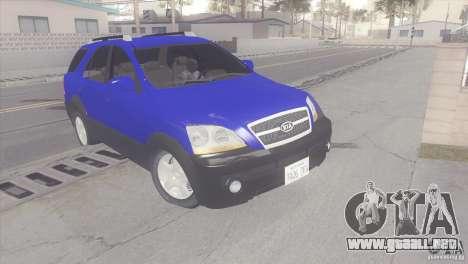 Kia Sorento para GTA San Andreas left