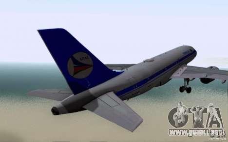 Airbus A-319 Azerbaijan Airlines para la visión correcta GTA San Andreas