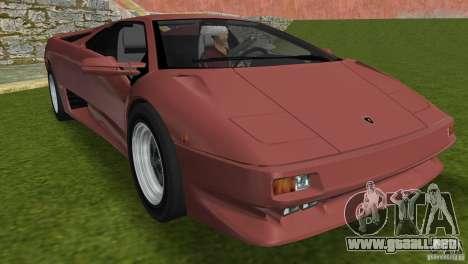 Lamborghini Diablo VTTT Black Revel para GTA Vice City vista superior