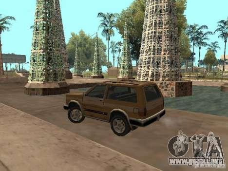 Landstalker nuevo para GTA San Andreas vista posterior izquierda