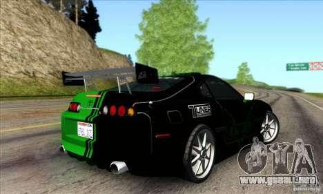 Toyota Supra Tunable para la vista superior GTA San Andreas