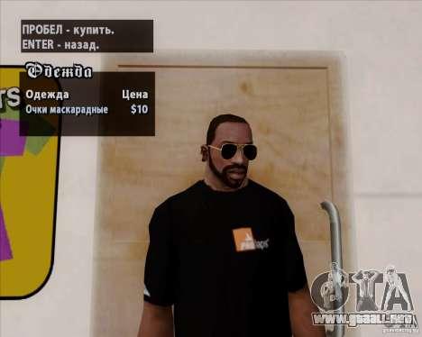 Gafas de aviador para GTA San Andreas tercera pantalla