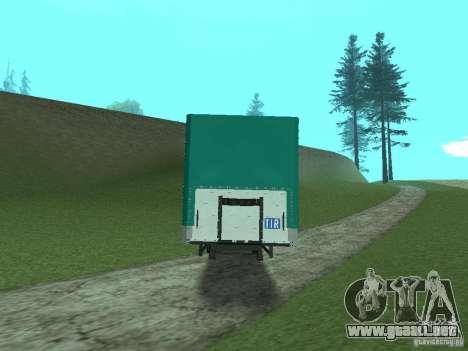 KOGEL Trailer para GTA San Andreas vista posterior izquierda